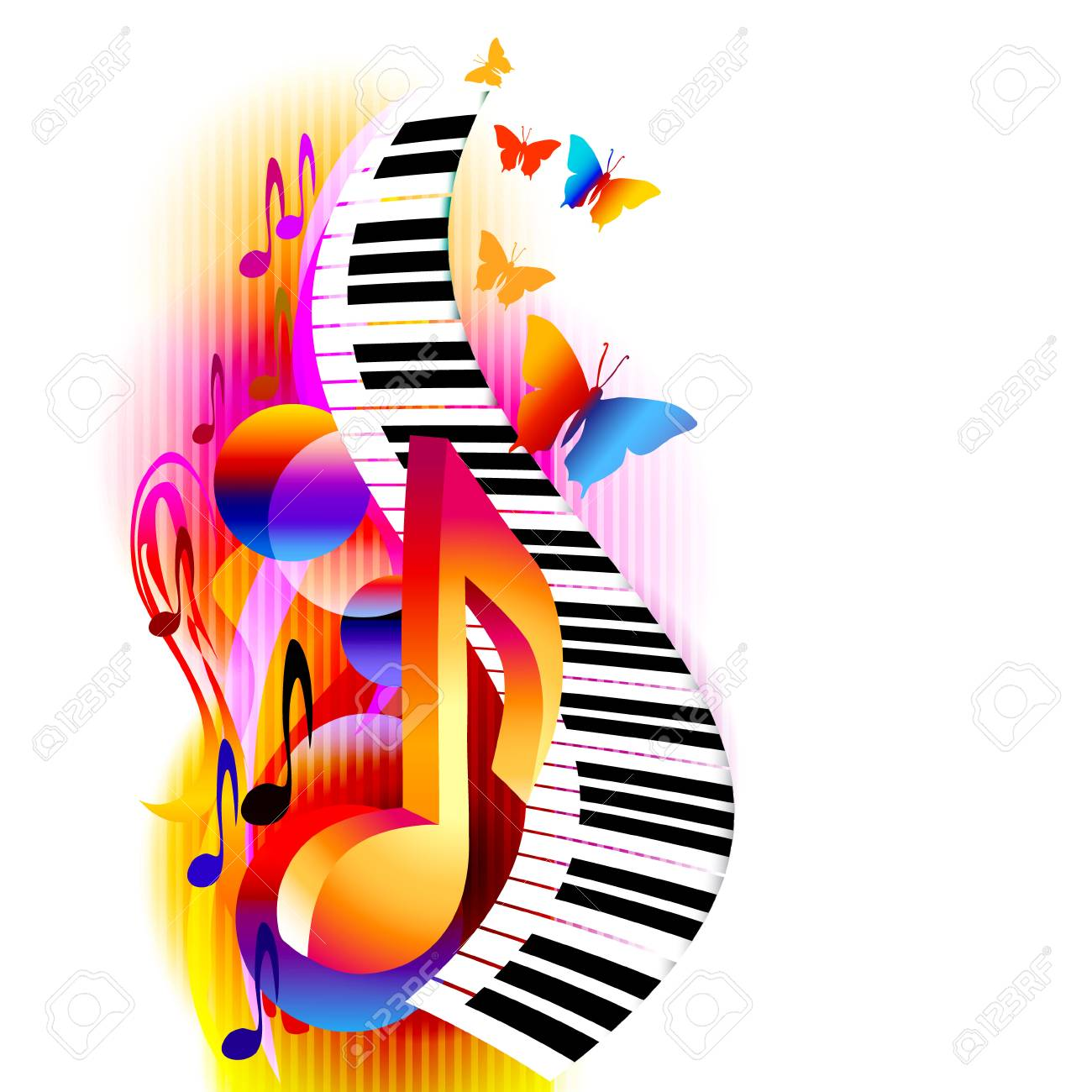 90325677-colorful-3d-music-notes-with-piano-keyboard-and-butterfly-music-background-for-poster-brochure-banne
